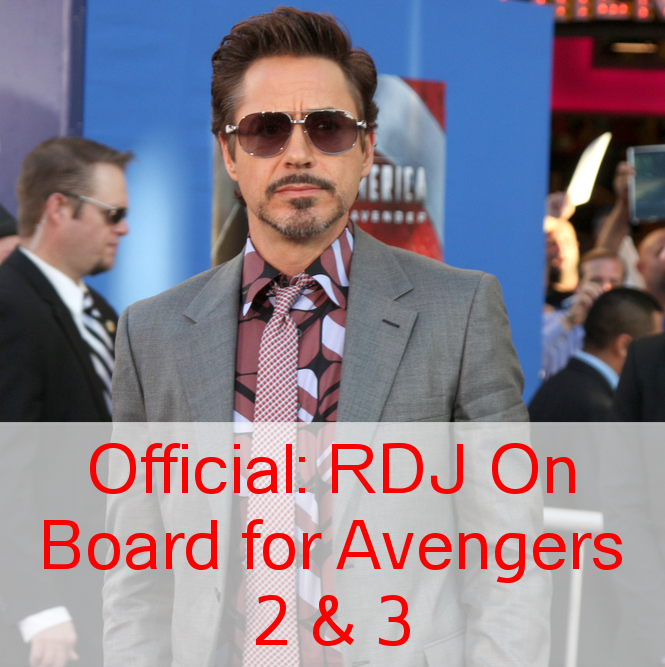 Robert Downey Jr Makes Deal with Marvel for Avengers 2 & 3
