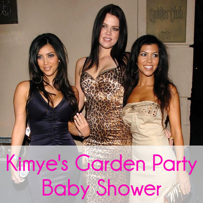Kim Kardashian Hosts Ladies Brunch Baby Shower With Garden Party Theme