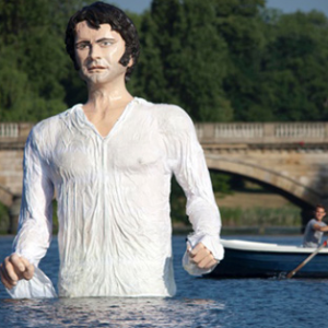 Giant Mr Darcy Sculpture In Hyde Park Lake, Colin Firth Going On Tour