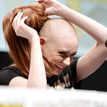 Comic-Con 2013: Karen Gillan Shaved Head for Guardians of the Galaxy