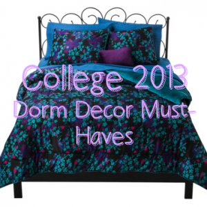 Thrift Shop Dorm Decor Ideas & Target Bed in a Bag Review