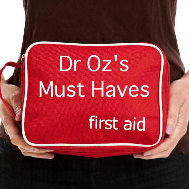 Dr Oz First Aid Kit Must Haves & Epsom Salt Soak Pain Relief Remedy