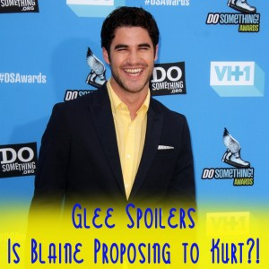 Glee Season 5: Blaine Proposing To Kurt & Beatles Tribute Spoilers