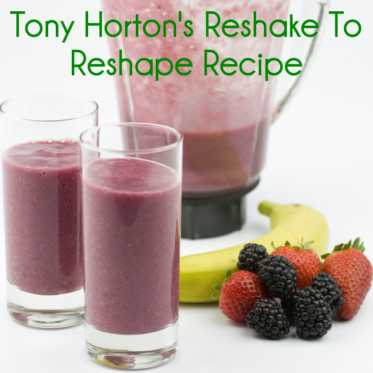 Dr Oz: Tony Horton Reshake to Reshape Recipe & 25 Second Grocery List