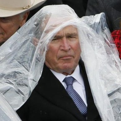 11 Things People Said About George W. Bush Fighting With His Poncho