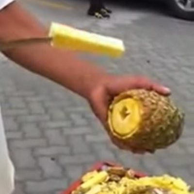 The Internet's Going Crazy Over This New Way to Cut a Pineapple