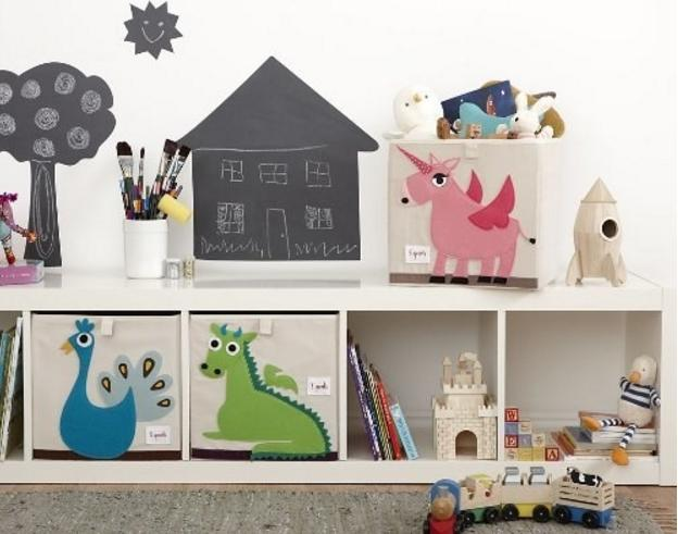 unicorn and dragon storage bins
